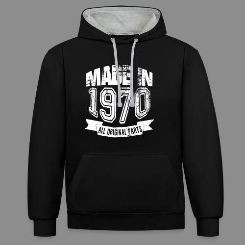 Made in 1970 - Sudadera con capucha en contraste