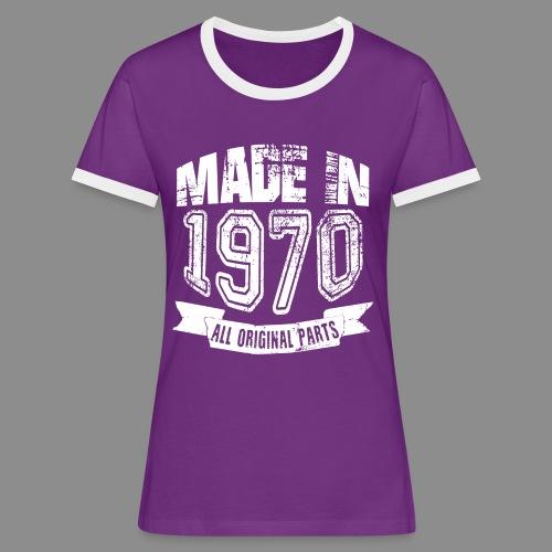 Made in 1970 - Camiseta contraste mujer