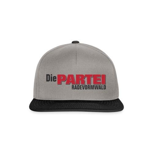 Cap Rade schwarz/grau - Snapback Cap