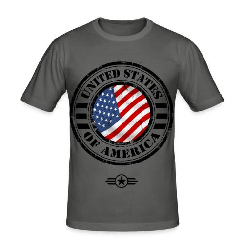 - US Patriot - - Männer Slim Fit T-Shirt