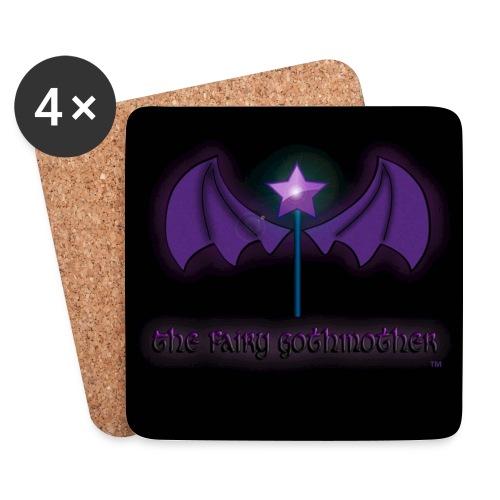 Fairy Gothmother logo coaster set - Coasters (set of 4)