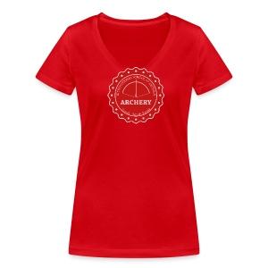 School of Archery - South Korea - Frauen Bio-T-Shirt mit V-Ausschnitt von Stanley & Stella
