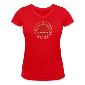 School of Archery - South Korea - Frauen T-Shirt mit V-Ausschnitt