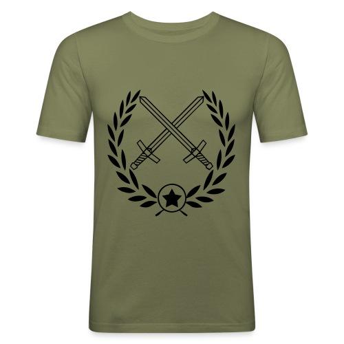 Slim fit T-shirt (Grön) - Slim Fit T-shirt herr
