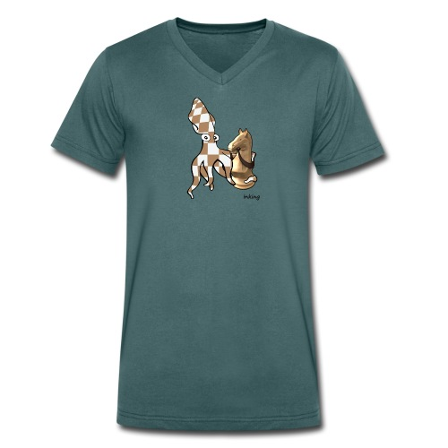 Bio Tshirt ChesSquid ColV LUI - T-shirt bio col V Stanley & Stella Homme