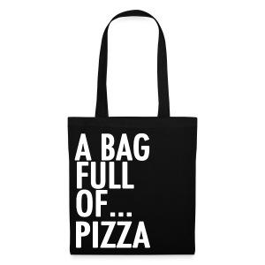 A Bag Full Of... PIZZA (White Font) - Tote Bag
