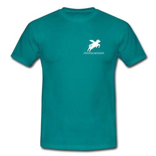 Mööhshirt weißes Logo - Männer T-Shirt