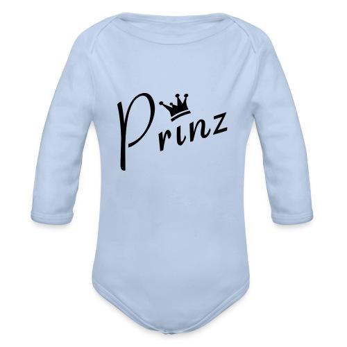 Baby Body Prinz Blau - Baby Bio-Langarm-Body