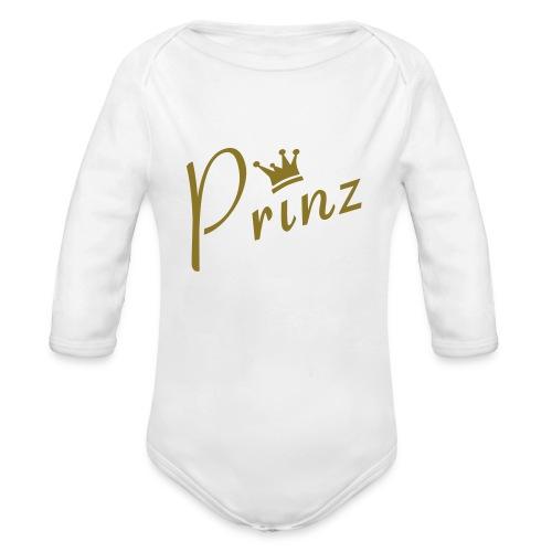 Baby Body Prinz Gold - Baby Bio-Langarm-Body
