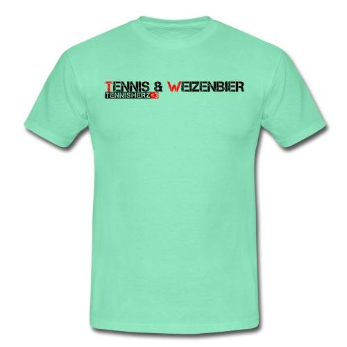 Männer T-Shirt Tennis & Weizenbier - Männer T-Shirt