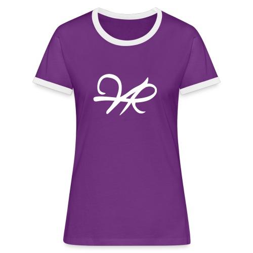 Purple T-Shirt, Women - Frauen Kontrast-T-Shirt