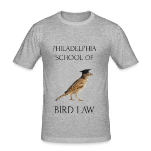 Philadelphia School of Bird Law - Men's Slim Fit T-Shirt
