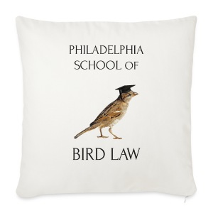 Philadelphia School of Bird Law - Sofa pillow cover 44 x 44 cm