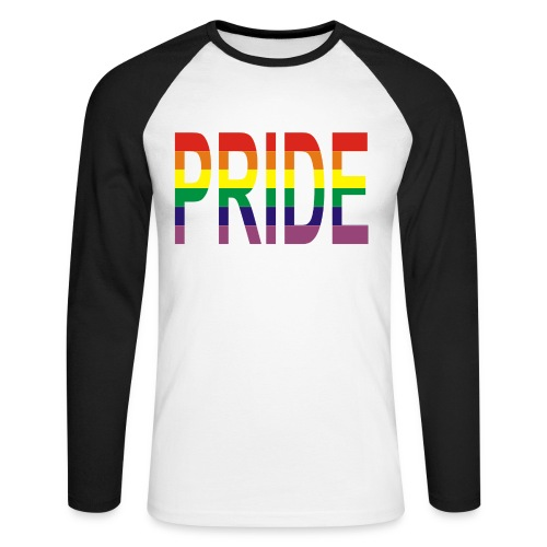 PRIDE Long Sleeve Baseball T-Shirt - Men's Long Sleeve Baseball T-Shirt
