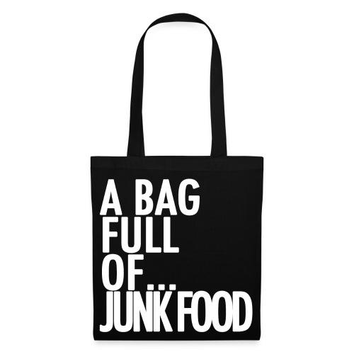 A Bag Full Of... JUNK FOOD (White Font) - Tote Bag