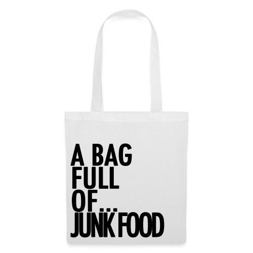 A Bag Full Of... JUNK FOOD (Black Font) - Tote Bag