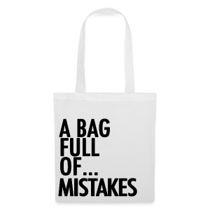 A Bag Full Of... MISTAKES (Black Font) - Tote Bag