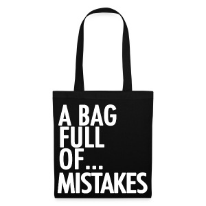 A Bag Full Of... MISTAKES (White Font) - Tote Bag