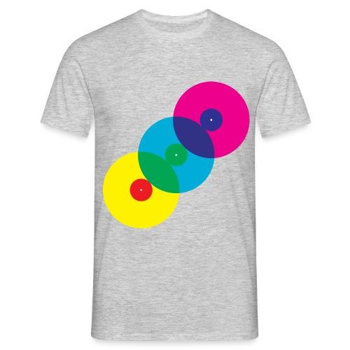 Vinyl Record Overlap - Men's T-Shirt