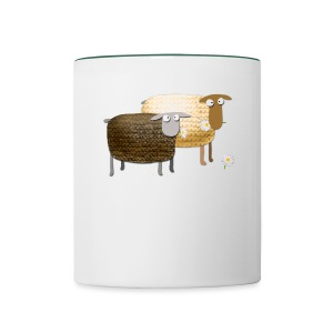 Funny Yummy Sheep - Contrasting Mug
