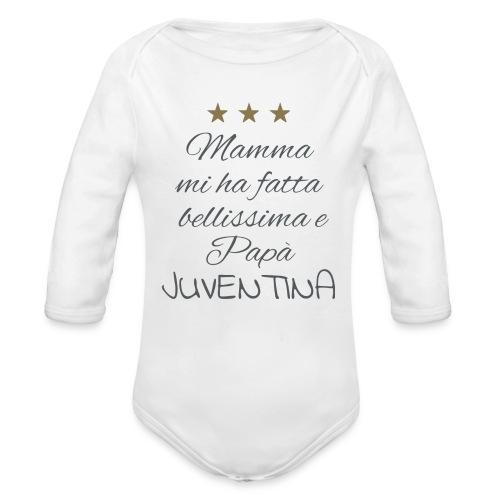 Body ML Juventina - Body ecologico per neonato a manica lunga