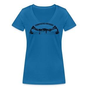 Damen-Shirt: Compound Archery - Frauen Bio-T-Shirt mit V-Ausschnitt von Stanley & Stella