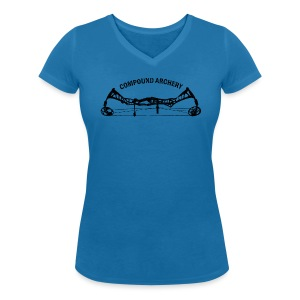 Damen-Shirt: Compound Archery - Frauen T-Shirt mit V-Ausschnitt