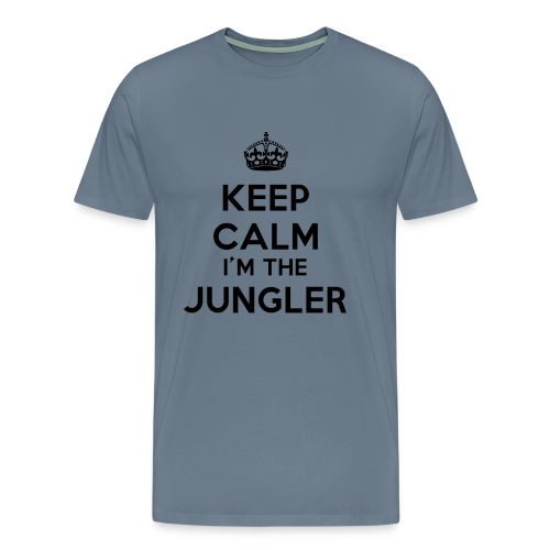T-shirt bleu-gris Keep calm I'm the Jungler - T-shirt Premium Homme