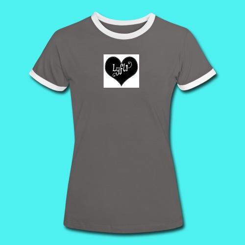 Lyfli T-shirt/  Crys T Lyfli- Welsh - Women's Ringer T-Shirt