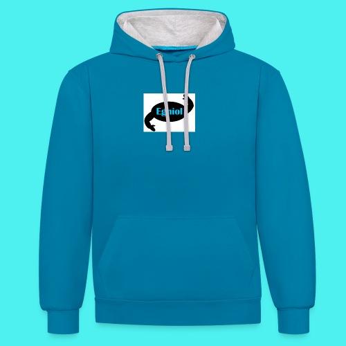 Welsh Egniol Hooded Sweatshirt / Siwmper Hwdi Egniol Cymraeg - Contrast Colour Hoodie