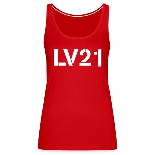 LV21 TEXT LOGO - Women's Premium Tank Top  - Women's Premium Tank Top