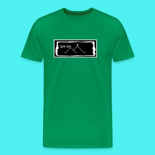 Want a challenge T shirt - Crys T eisiau her - Men's Premium T-Shirt