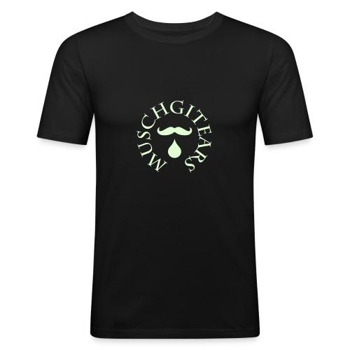 Muschgitears black round logo glow dark - Slim Fit T-shirt herr