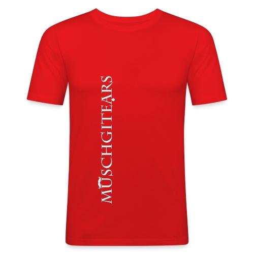 Muschgitears red vertical logo reflex - Slim Fit T-shirt herr