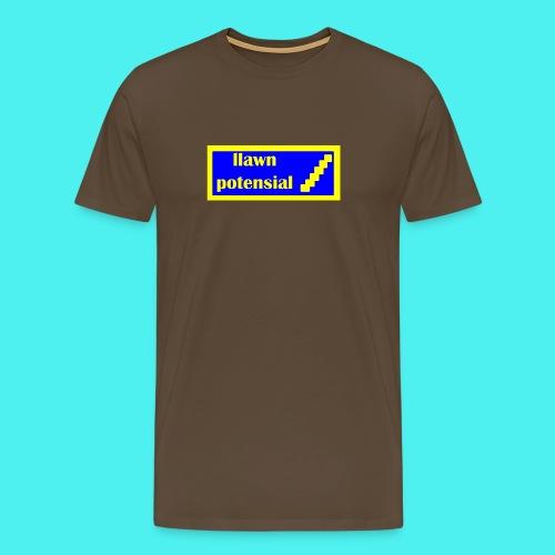 Crys T llawn potensial / Full of potential t-shirt - Men's Premium T-Shirt