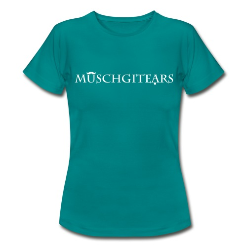 Muschgitears turqois logo - T-shirt dam