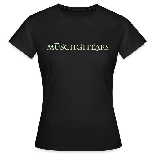 Muschgitears black logo glow dark - T-shirt dam