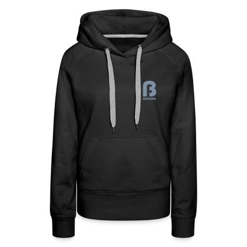 Women's Premium Hoodie Black with Silver Bedfunk Logo - Women's Premium Hoodie