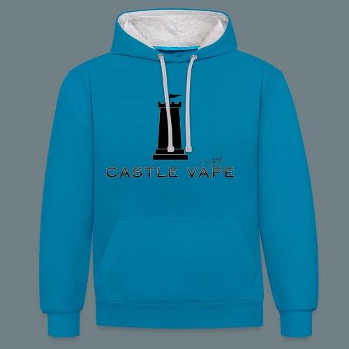 Castle Vape Premium 2 Tone Hoodie - Contrast Colour Hoodie