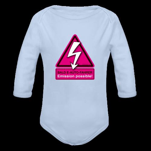 Baby Langarmshirt mit individuellem Namen - Baby Bio-Langarm-Body