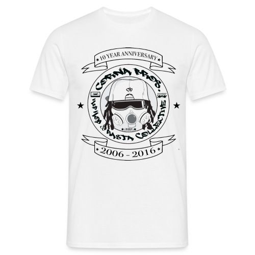 Corna Bros. 10 Year Anniversary T-Shirt (White) - T-skjorte for menn