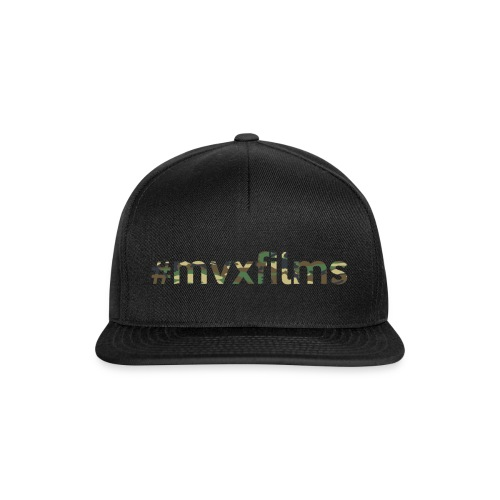 #mvxfilms snapback (black/camo) - Snapback Cap
