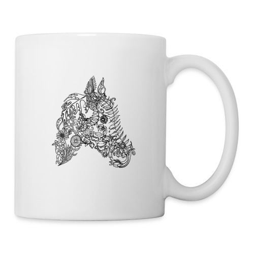Tasse Blumenpferd - Tasse