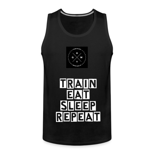 Train Eat Sleep Repeat Tank Top - Männer Premium Tank Top