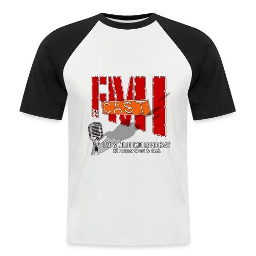 T-shirt Base ball avec Logo Saison 4 - T-shirt baseball manches courtes Homme