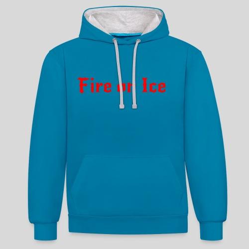 Spenden-Pullover blau-grau - Kontrast-Hoodie