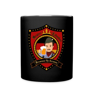 Hermann Crest Mug Black - Full Colour Mug
