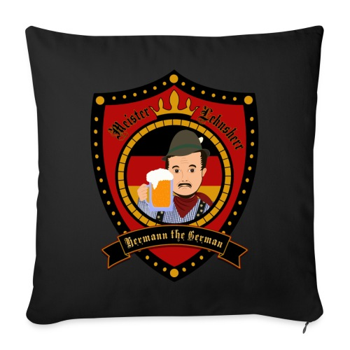 Hermann Crest Pillow Cover - Sofa pillow cover 44 x 44 cm