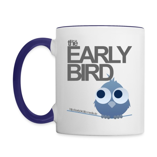 Early Bird Tasse *blau* - Tasse zweifarbig