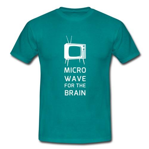 Microwave for the brain - Männer T-Shirt